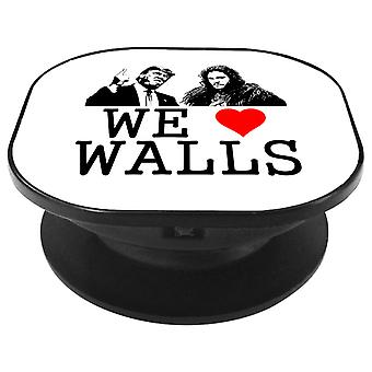 We Love Walls Jon Snow Bill Donald Trump USA Republican Phone Grip