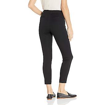 Essentials Frauen's Dünne Knöchel Hose, schwarz, 4 lang, schwarz, Größe 4.0