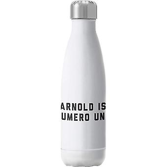 Arnold Schwarzenegger Arnold Is Numero Uno Insulated Stainless Steel Water Bottle