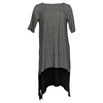 Cuddl Duds Frauen's Petite Kleid Flexwear Lounge Kleid schwarz A349599