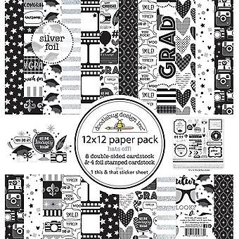 Doodlebug Design Czapki Off 12x12 Calowy papier pack