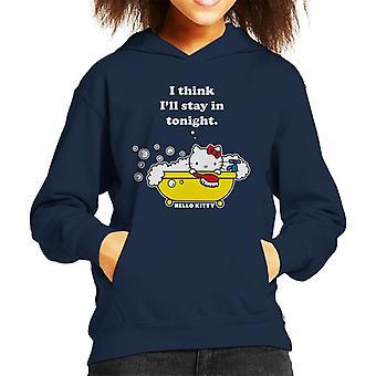 Hallo Kitty Badezeit ich denke ill Aufenthalt in Tonight Kid's Kapuzen Sweatshirt