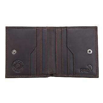 Primehide Mens Leather Card Holder Portefeuille Plateau de pièces RFID Bloquant Gents 4260