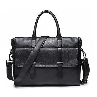 Men's borsa coreana del computer da viaggio (nero)