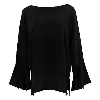 Linea por Louis Dell'Olio Women's Pullover Blouse w/Slv Detail Black A302549