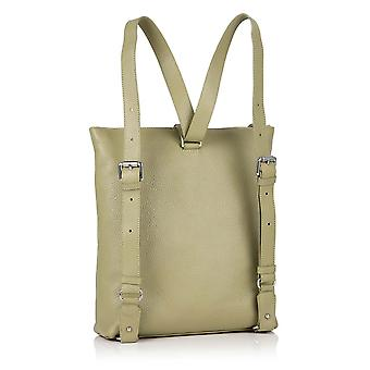 Little Molly Leather Sling Backpack in Sage Green Richmond Chrome Free Leather