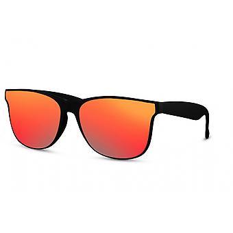 Okulary przeciwsłoneczne Unisex Prostokątny pełny oprawiony kot. 3 czarny/czerwony