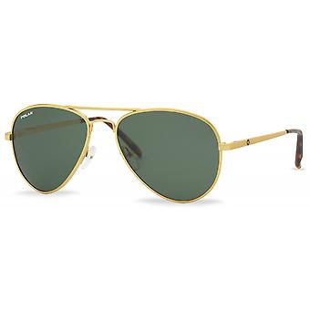 Sunglasses Unisex Polarized Gold (P66402)