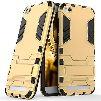Shell for Xiaomi Redmi 5A Space Armor Gold Hard Plastic Protection Case