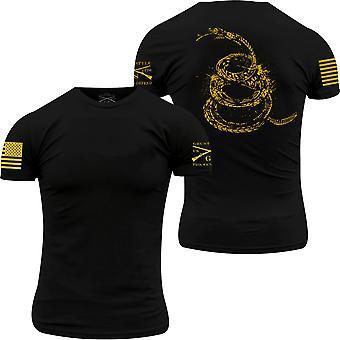 Grunzen Sie Stil Gadsden Tracks Rundhals T-Shirt-schwarz