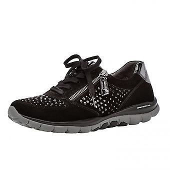 غابور رولينجسوفت أحذية رياضية حديثة رائعة في جلد الغزال الأسود
