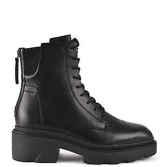 Ash Footwear Moody Leather Ankle Lace-up Boots Black
