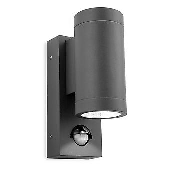 Firstlight Shelby - LED 2 Licht Outdoor Up Down Wall, PIR Graphit IP65
