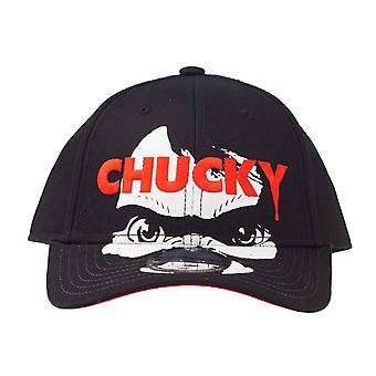 Chucky Baseball Cap Face Movie Logo new Official Horror Black Unisex Strapback