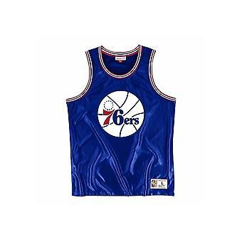 Mitchell & Ness NBA Philadelphia 76ERS Dazzle MSTKDF18015P76ROYA1 basquetebol todo o ano masculino t-shirt