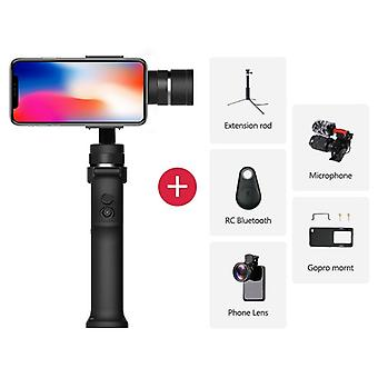 3-axis Stabilizer 3 Combo-handheld Smartphone Gimbal-stabilizer For Iphone Gopro 7 6 5 Sjcam Eken Yi Action Camera