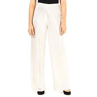 Leyden | Silver Pleated Wide Leg Pants