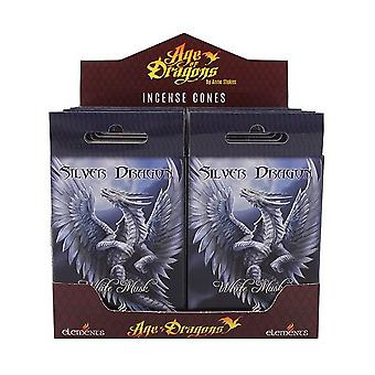 Age Of Dragons Silver Dragon Incense Cones (12 Packs Of 15)