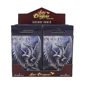 גיל דרקונים כסף הדרקון הקטורת קונוסים (12 חבילות של 15)