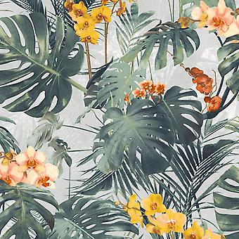 Paradiso Palm Wallpaper Yellow GranDeco MY2101