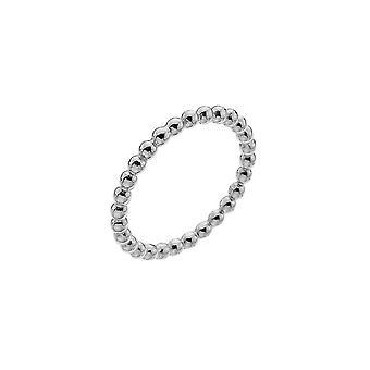 Dug sterling sølv Small beaded band ring 2004HP018