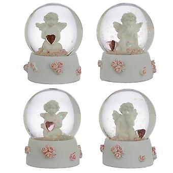 Collectable Peace of Heaven Cherub - Sweet Dreams Snow Globe X 1 Pack