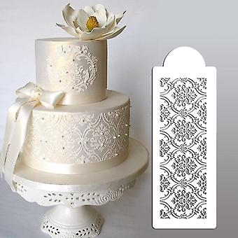 "4.25""h X 12.75""w Royal Damask Cake Stencil Set#4, Plastic Art, Cake Side"