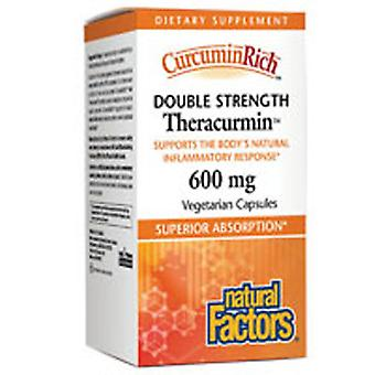 Natuurlijke factoren Curcuminrich Dubbele Sterkte Theracurmin, 60 mg, 60 Vegetarische Caps