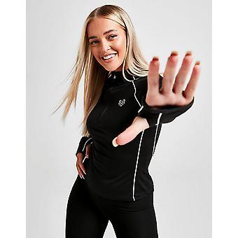 Nieuwe Pink Soda Sport Women's Piped 1/4 Zip Track Top Black