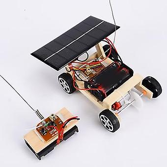 Remote Control Car- Wooden Diy Assembly Solar Energy Education Toy