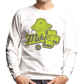 Pixar Monsters Inc Mike Wazowski I Was On TV Men's Sweatshirt