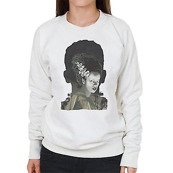 The Bride Of Frankenstein Head Women's Sweatshirt