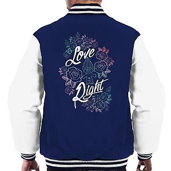 Trolls Love Right Men's Varsity Jacket