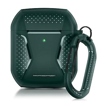 MOBOSI Shockproof Case for AirPods 1/2 with Carabiner - AirPod Case Cover Skin - Green