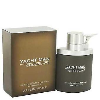 Yacht Man Chocolate By Myrurgia Eau De Toilette Spray 3.4 Oz (men) V728-517633