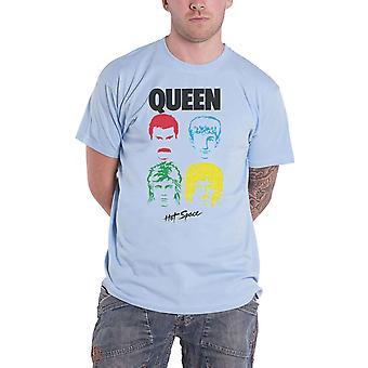 Queen T Shirt Hot Space Album Band Logo nuevo oficial light Blue