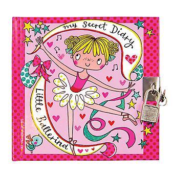 Flickor låsbara ballerina hemliga dagbok