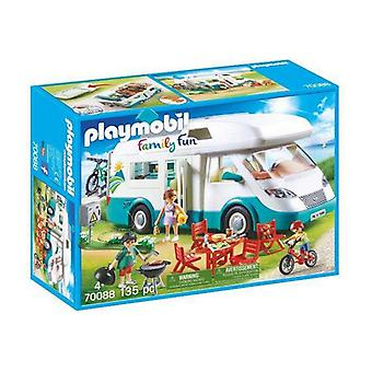 Playset Playmobil Família Fun Summer Caravan Playmobil (135 pcs)