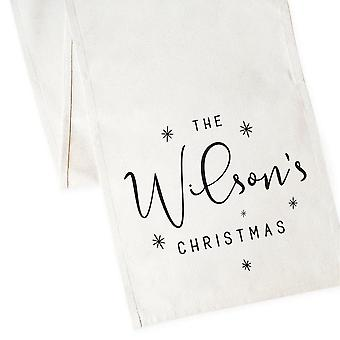 Christmas Canvas Table Runner