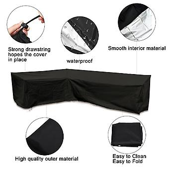 Heavy-duty Outdoor Sofa Cover, 100% Waterproof 600d Terrace Sofa Cover, Garden Patio Furniture Cover L Shape