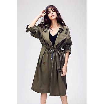 Autumn Women's Casual Trench Coat, Oversize, Double Breasted, Outwear Loose
