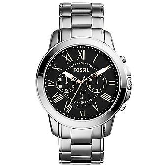 Fossil FS4994 Grant Chronograph Stainless Steel 43mm Men's Watch**NOUVEAU**