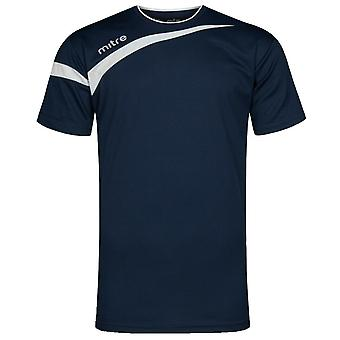 Mitre Polarize Navy Mens Short Sleeves Polyester Tee T-Shirt T50110 NE7 DD70