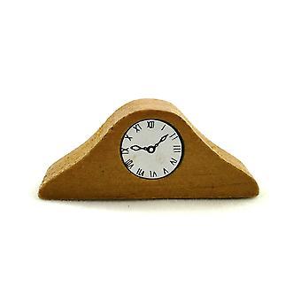 Puinen mantle kello nuket talo miniatyyri 1:12 Vaa'an lisävaruste 418