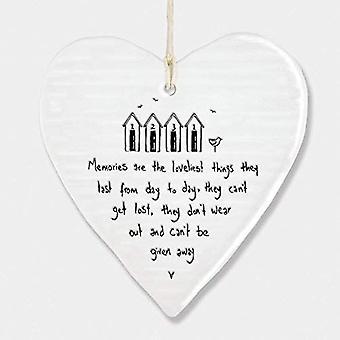 Oosten van India porselein Hanging Heart 'Herinneringen zijn de mooiste' cadeau