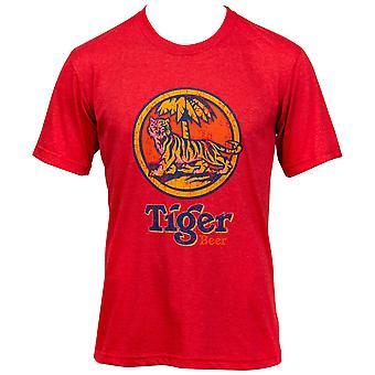 Tiger Beer Vintage Distressed Style T-Shirt