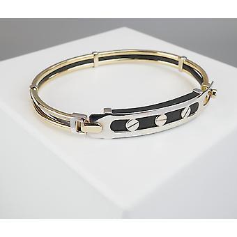 Goldenen Sklaven Armband mit Leder