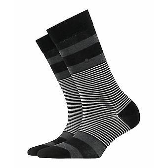 Calcetines Burlington Stripe - Negro