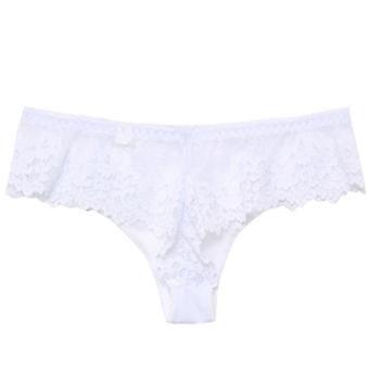sexy blonder undertøy fristelse lav midje truser broderi thong gjennomsiktig