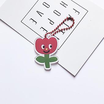 Chaîne mignonne de clé de dessin animé, fleur, sac de fraise, téléphone portable, pendentif de coquille